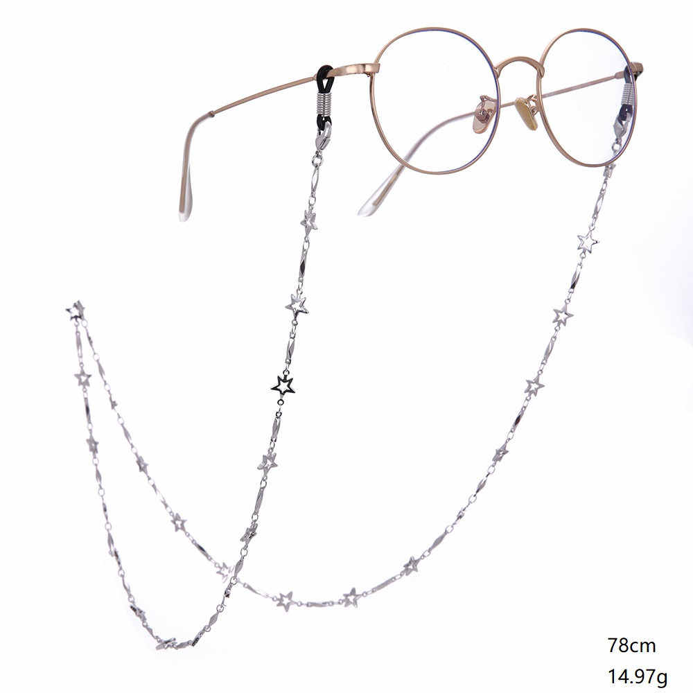 Teamer Reading Glasses Cord Star Metal Glasses Chain Holder For Women Sunglasses Chain Strap Eyewear Accessories Metal Lanyards Aliexpress