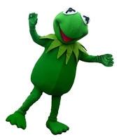 Hot sale Kermit Frog Mascot Costume free shipping Halloween Cartoon