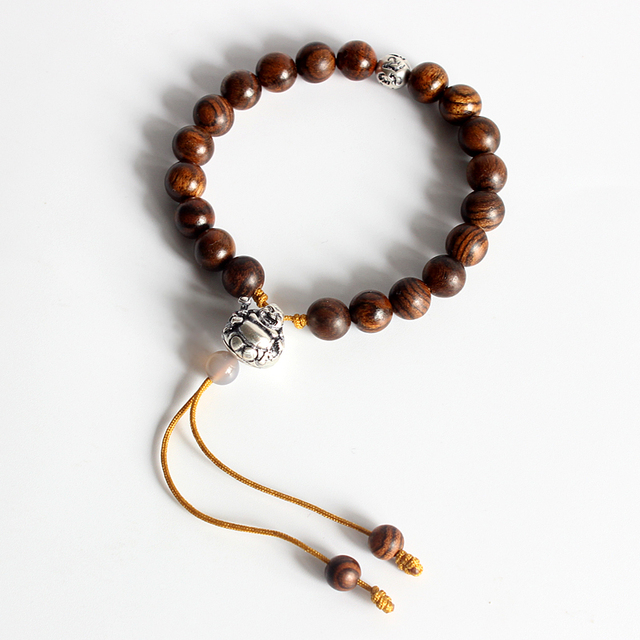 3fed68a499 Eastsian Wholesale Tibetan Buddhism Mala Prayer Natural Wood Beads Stretch  Bracelets with Langhing Buddha Charm Handmade