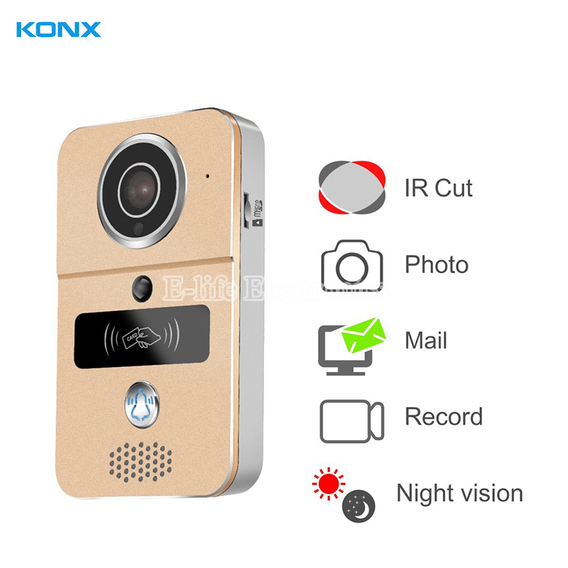 KONX Smart 720P Home WiFi Video Door phone intercom Doorbell Wireless Unlock Peephole Camera Doorbell Viewer 220v IOS Android d114b smart home 1v2 wireless intercom one to two video door phone 2 4g digital pir detection video door peephole camera