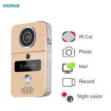 KONX Smart 720P Home WiFi Video Door phone intercom Doorbell Wireless Unlock Peephole Camera Doorbell Viewer 220v IOS Android