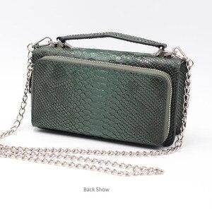 Image 3 - XMESSUN 2020 hakiki Python cilt bayan zincir çapraz vücut çanta yılan deri çanta kadın el çantası