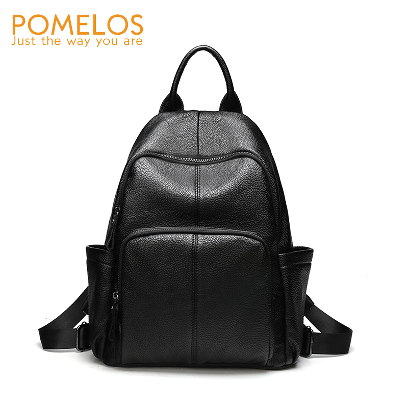 POMELOS Brand Women Backpack School Bags For Teenage Girls Soft PU Leather Woman Back Pack Black School Backpack For Women New yesello embroidery letters crybaby hologram laser backpack women soft pu leather backpack school bags for girls nbxq194