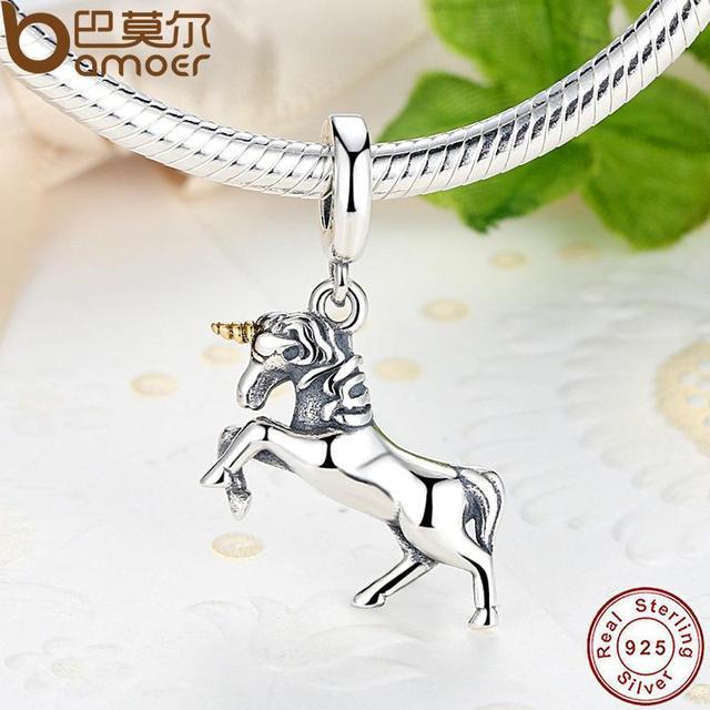 REGALO del Vincitore Spirito Nobile Elegante 100% Dell'argento Sterlina 925 Spedizione Animale Cavallo Pendente di Fascino Braccialetto Adatto PAS020