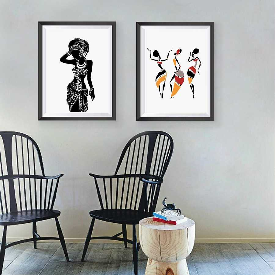 Beautiful Black Woman Canvas Art Print Poster, African Woman Art Canvas Painting Wall Pictures Home Decor