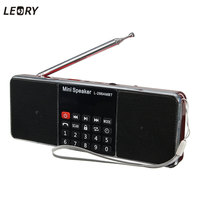 LEORY Multifunctional Wireless Bluetooth LCD FM/AM Radio StereoPortable MP3 Music Player Micro for SD USB Dual Loudspeaker