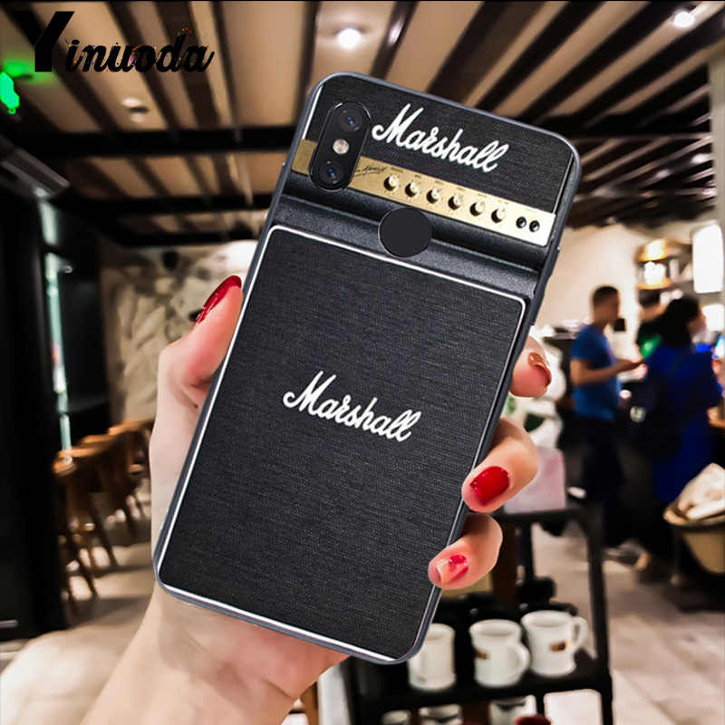 Yinuoda amplificador de guitarra marshall diseño de funda de teléfono para Xiaomi Redm4X 6A 5A 7A rojo mi 5 5Plus Note8 8Pro 7 mi A1 A2Lite