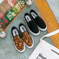 Patchwork Leisure Loafers Horse Hair Women Designer Creepers Leopard Slip On Platform Elevator Shoes Thick Bottom Female Flats
