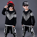 Boys Girls Hip Hop Clothing Boy printing ethnic suit Girls fashion set Children 's jazz performance clothes
