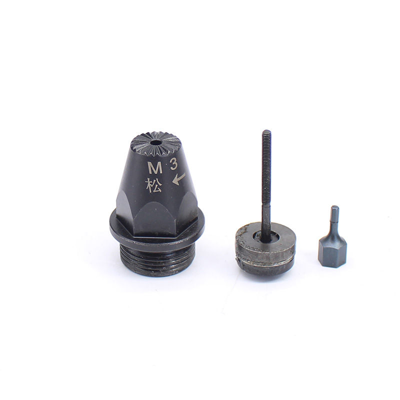 Pneumatic Riveter Parts Accessories of Air Rivet Mouth Tool M3 External Thread 23.62mm tc300 3 16 4 8mm air riveter pneumatic riveter with four guide mouth 2 4mm 3 2mm 4 0mm 4 8mm