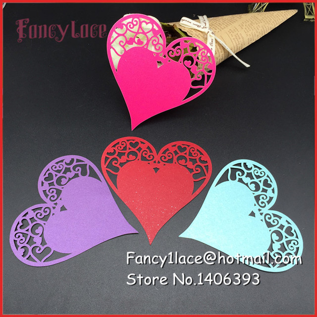 60pcs laser cut pearl paper card hang tag gift card baby shower