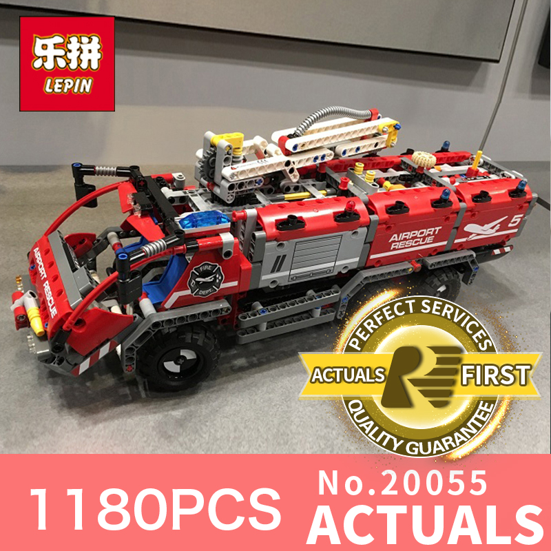 Lepin 20055 1180Pcs City the Rescue Vehicle Set Children Educational Building Blocks Bricks Toys Model 42068 for Children Gifts new lepin 16008 cinderella princess castle city model building block kid educational toys for children gift compatible 71040