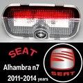 2x LED passo cortesia projetor laser logotipo da luz da porta Para SEAT Alhambra N7 2011-2014