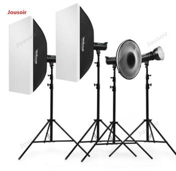 Godox Studio Flash DE400w Studio four lamp set portrait clothing softbox Photographic lamp equipment CD50 T03