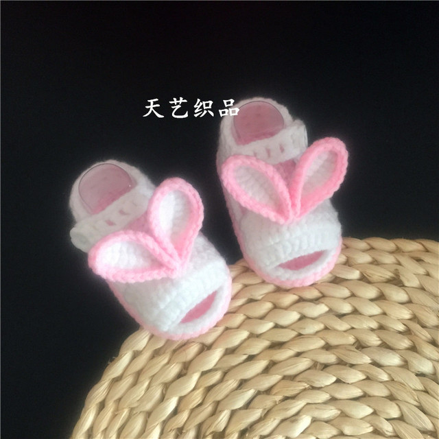 Newborns Hand Knitted Sweater Shoes Cute Rabbit Baby Step Shoes