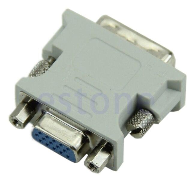 Jual Panas 15 Jarum VGA Wanita untuk DVI-D Adaptor Adaptor Pria LCD