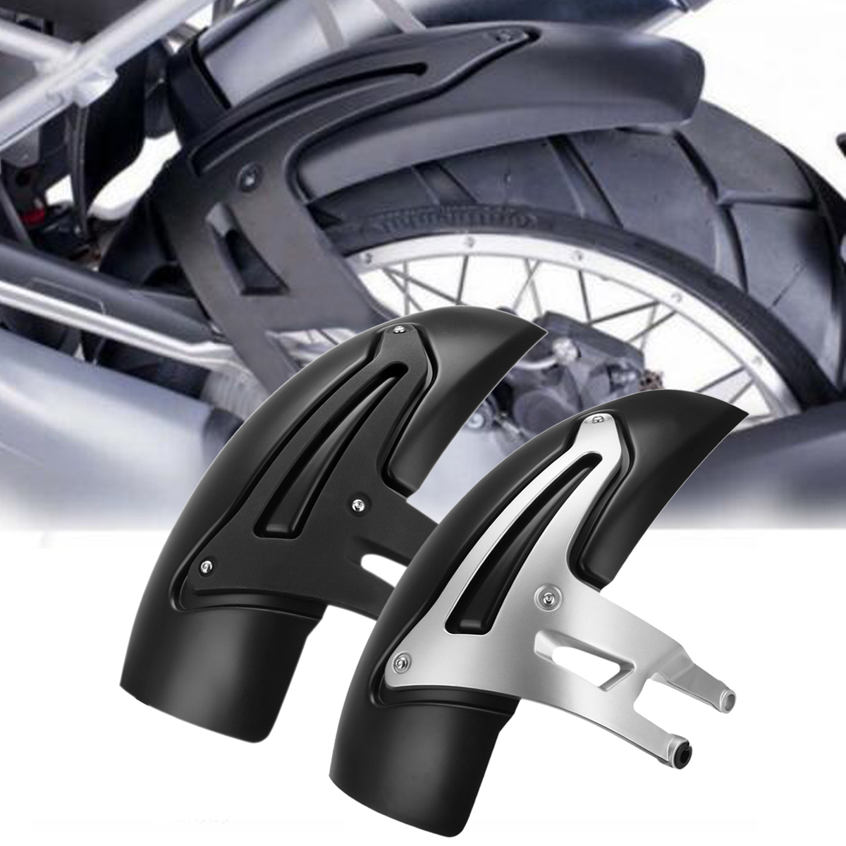 Motorcycle Rear Fender Mudguard Bracket Wheel Cover Hugger Extension FOR BMW R1200 GS LC/R 1200GS Adventure 2014-2018 for bmw r1200gs r1200 gs adventure 2008 2012 motorcycle carbon rear fender bracket wheel hugger fender mudguard splash guard