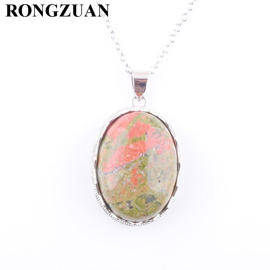 UNAKITE Gemstone 20mm Protection ROUND Pendant Necklace Fashion Jewellery