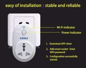 Image 5 - KERUI S72  wifi power socket plug outlet,smart Home Automation APP Control swit With EU AU US UK plug for iphone xiaomi Android