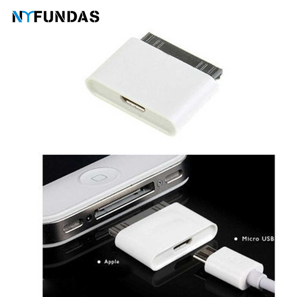 NYFundas micro usb 30 pin hembra macho adaptador de conector para apple iphone 4 4s 3gs ipod iphone 4 iphone 4s convertidor de cable de carga
