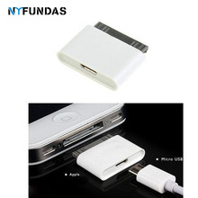 NYFundas المصغّر usb 30 دبوس أنثى ذكر موصل محول لتفاح iphone 4 4s 3gs ipod iphone 4 iphone 4s محول كابل شحن(China)