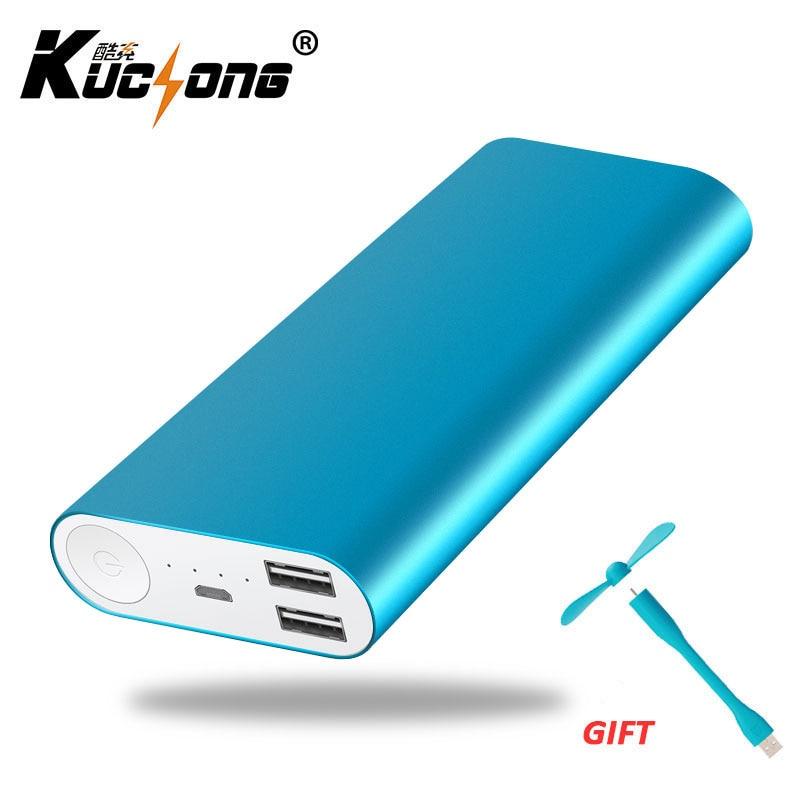 kuchong 12000mah power bank external battery bank dual usb