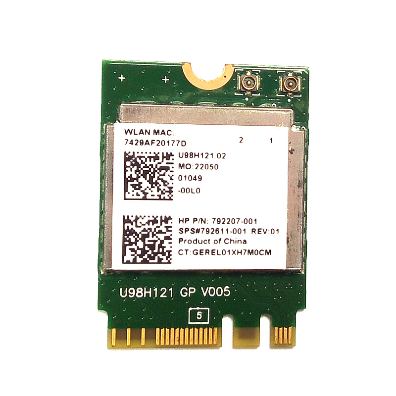 SSEA Wholesale For Realtek RTL8723BE 802.11bgn NGFF Wireless Wifi Bluetooth 4.0 Card For HP ProBook 430 440 455 G3