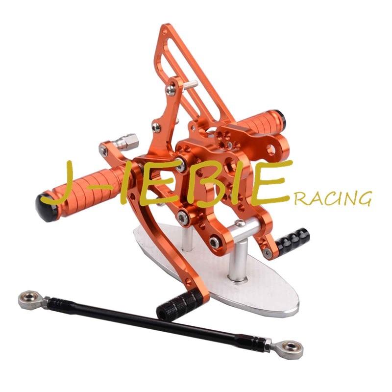 CNC Racing Rearset Adjustable Rear Sets Foot pegs Fit For  Honda CBR893RR CBR919RR 1994-1999 CBR400 NC29 ORANGE