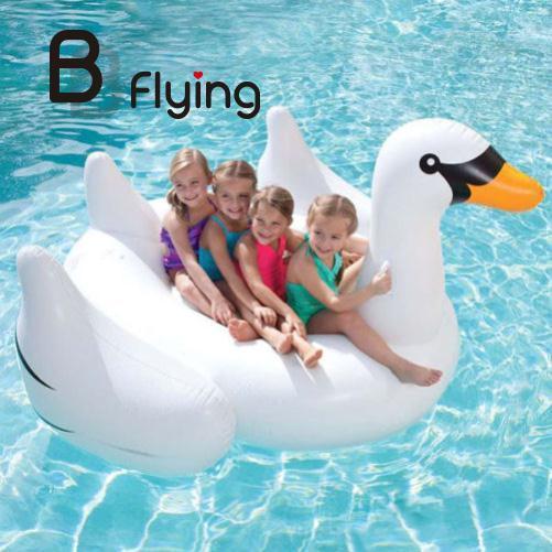 Lago De Água De Natação Piscina Salão de verão Garoto Gigante Rideable White Swan Forma Brinquedo Inflável Float Jangada Oceano Flutuante