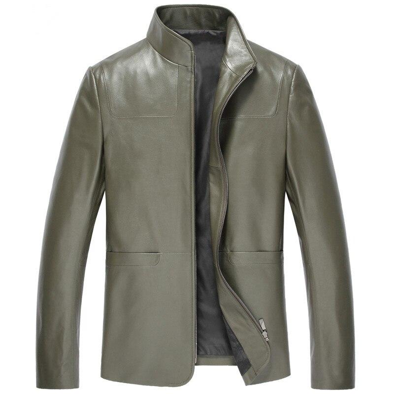 Men's Leather Jacket Autumn Winter Jacket Men Genuine Sheepskin Coat Streetwear Men Jacket Coat 5xl Chaqueta Hombre 2698 Y1597