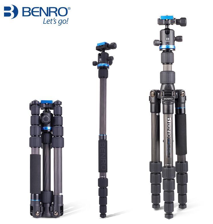 Benro Tripod Carbon Fiber Single Reverse Camera Tripod Photographic Bracket IF19C Portable Carpet Roller