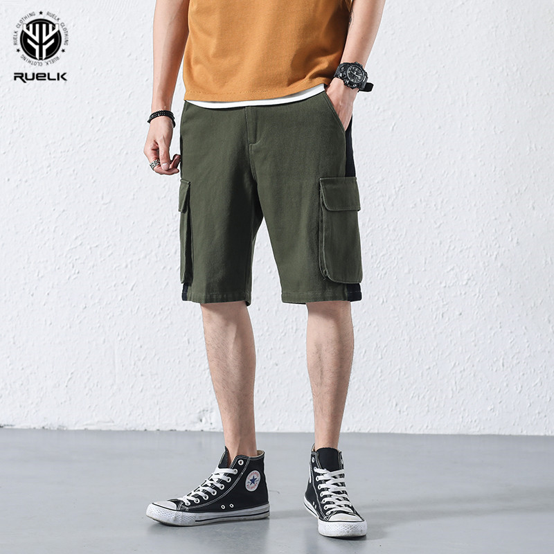 Ruelk 2018 Camouflage Camo Cargo Shorts Men 2018 New Mens Casual Shorts Male Loose Work Shorts Man Military Short Pants