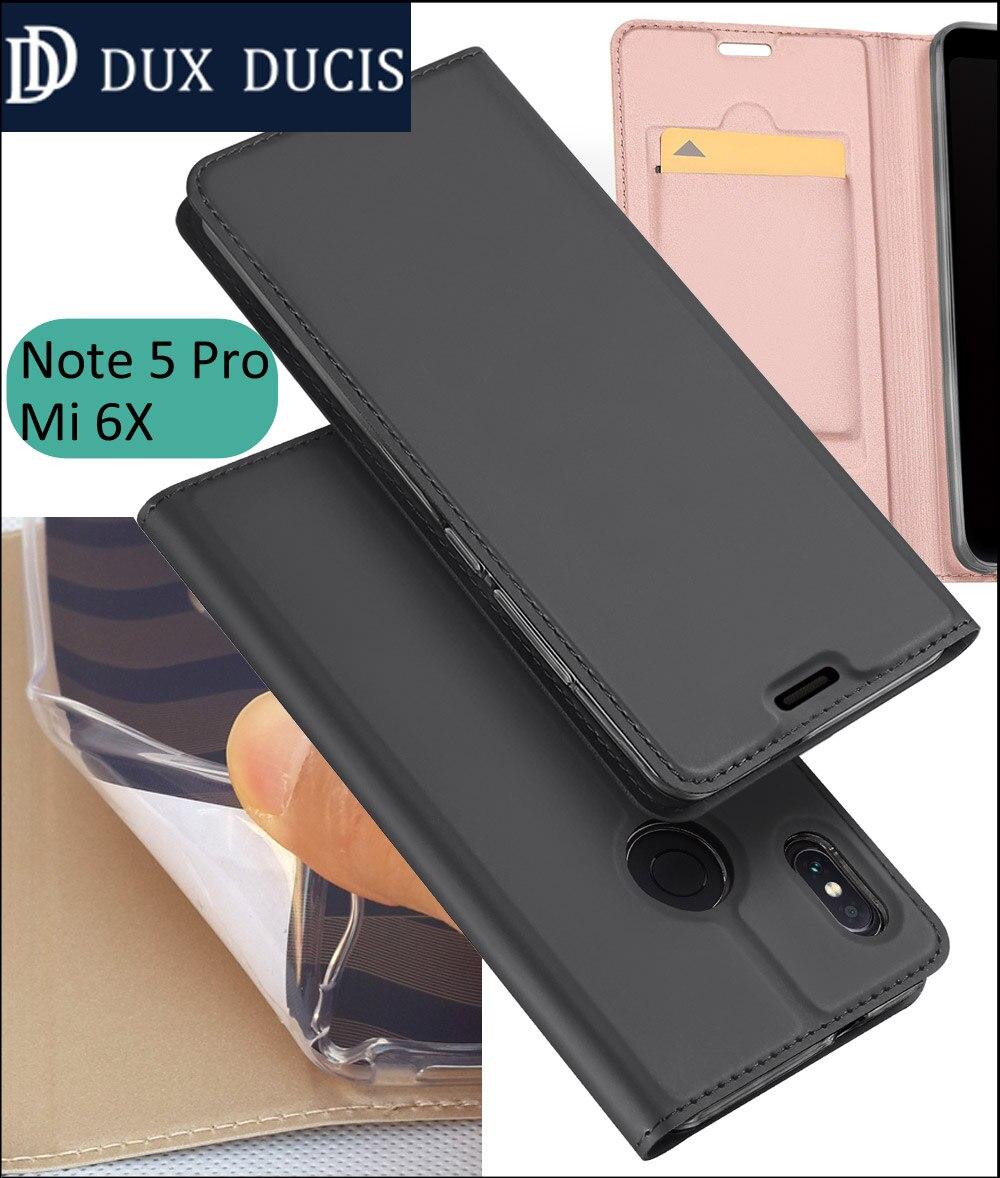 the latest 0c20c c5da4 US $7.99  Original DUX DUCIS Case Cover For Xiaomi Redmi Note 7 6 Pro Note5  Book Flip Leather Wallet Coque Global Version-in Flip Cases from ...
