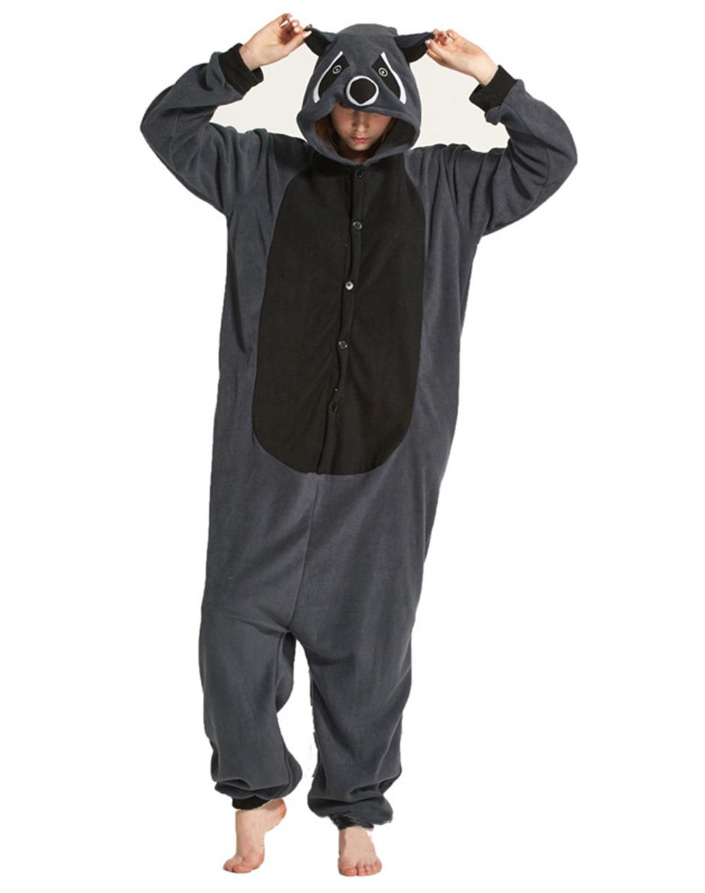 grey raccoon pajamas1