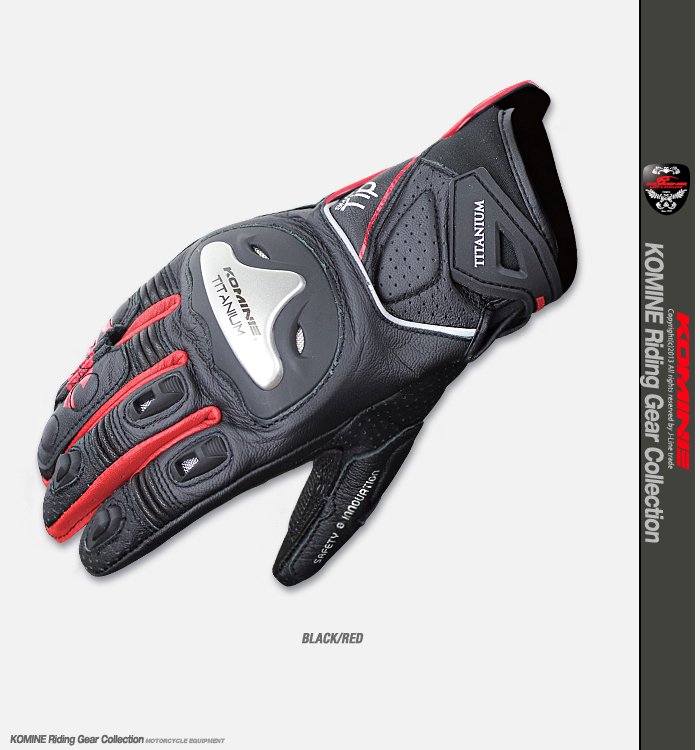 New titanium alloy anti fall racing Gloves Motorcycle Riding GlOves Touch Screen KNight Gloves KOMINE GK