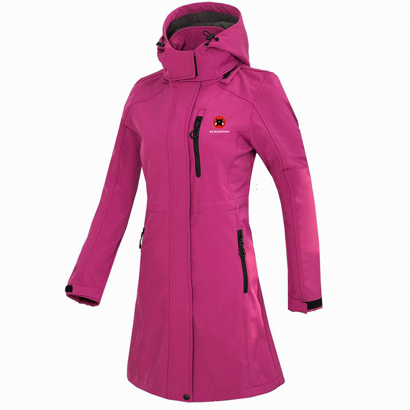 Winter Fleece Warm Camping Long Coat Women Waterproof Jacket Windbreaker Soft shell Thermal Hiking Jacket Trekking Sports Jacket