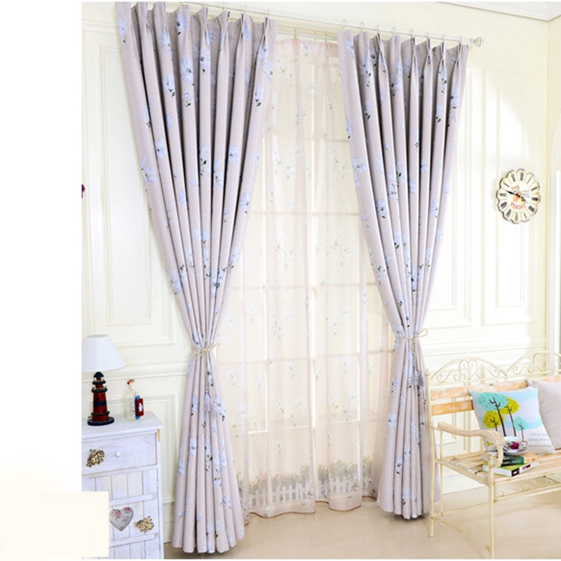 Curtains For Living Dining Room Bedroom Modern Simple Chrysanthemum  Dandelion Light Small Fresh And Simple Blinds