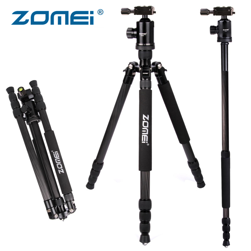 Zomei Z888C Professional Portable Carbon Fiber Tripod Stand with Ball Head Compact Travel -0