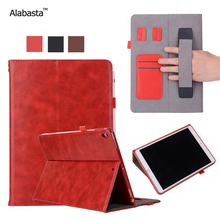 Alabasta Case For Apple iPad Mini1 2 3 Capa Original Leather Surface Shield Card Bag Flip Stand Safe Stand Case With stylus