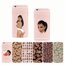 Funny Face Kimoji Kim Kardashian Design Soft Silicon Phone Cases Cover phone for IPhone 11 pro X 5S SE  6 7 8 Plus XR XS MAX