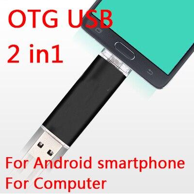 New OTG Smartphone 8GB 16GB 32GB USB Flash Drive, 64GB Mobile Phone Usb Memory, Cell Phone Pendrive, Usb Stick Mini Key Gift 1TB