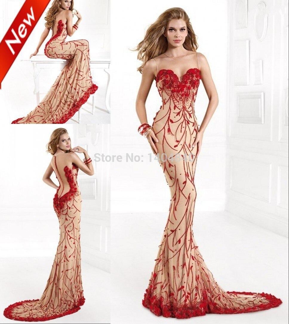 tienda online famoso diseo de vestidos de fiesta por encargo de la sirena vestido rojo atractivo de la flor hechos a mano prom vestidos vestido