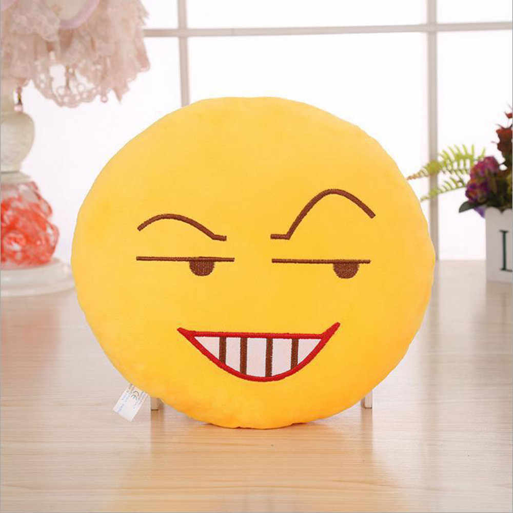 32 Cm Lembut Smiley Emoticon Mewah Boneka Mainan Boneka Bantal Cover Dekoratif Bantal Sofa