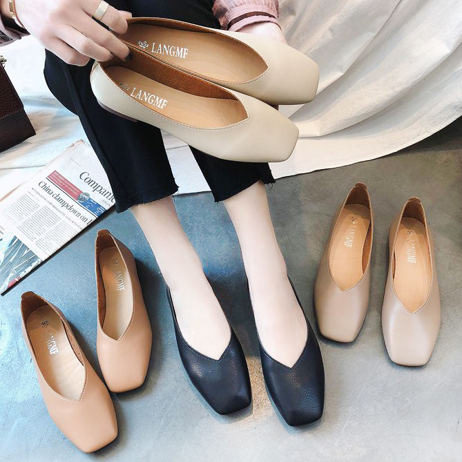 650a33531c2 Ballet Flat Shoes Women Flats Quality Handmade Soft Faux Leather Shoes  Women Casual Single Shoes Slip-On Ballerina Loafers