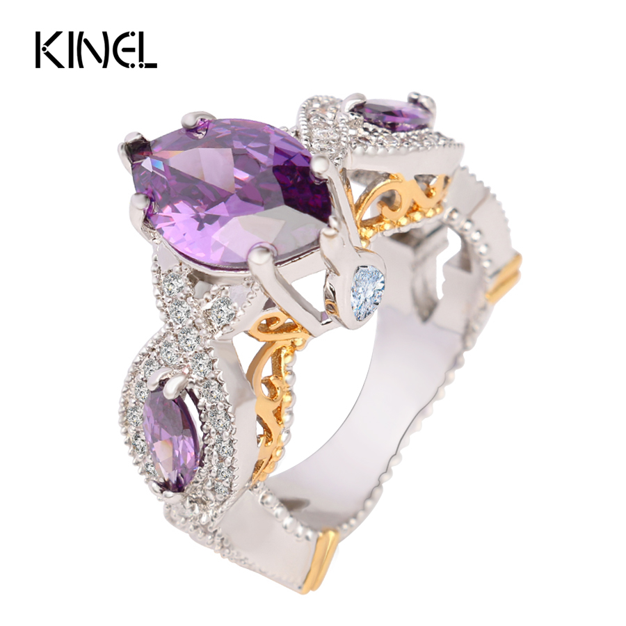 Top Level Luxury Cz Zircons Wedding Ring For Charm Violet Dream Princess  Lucky Ring Sex Goddess