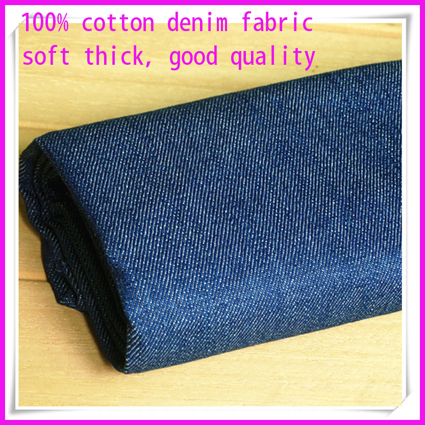 Bun 145 * 50cm1pc Fabric gros de bumbac Denim 100% bumbac Fabric Denim Spalat Gros Bumbac Fabric Patchwork Diy Cusut Jeans Pantaloni