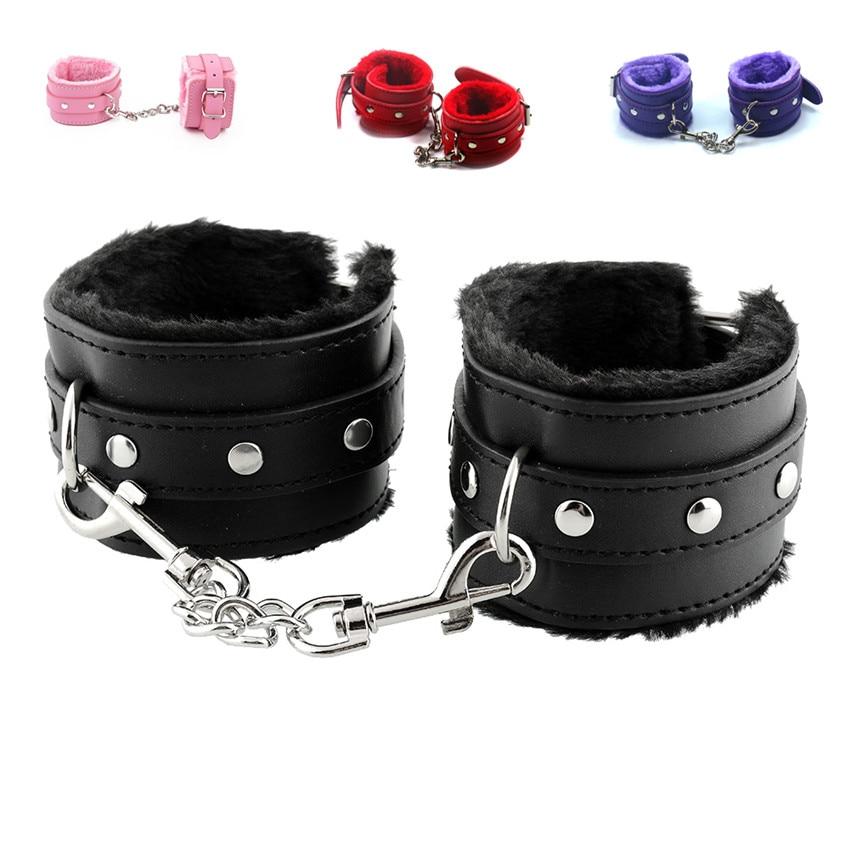 Buy 1 pair Soft PU Leather Handcuffs Restraints BDSM Sex Bondage Sex Products Ankle Cuffs Adult Games Slave Toys Couples ST21