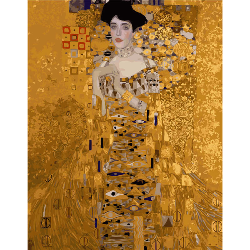 Frameless pictures painting by numbers hand painted canvas drawing diy oil painting by numbers 40*50cm Klimt - Mrs. Bauer B385