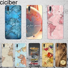 ciciber World Map Travel Phone Case Cover For Huawe