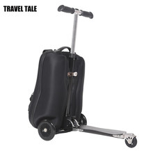 TRAVEL TALE 21 inch kids scooter travel suitcase skateboard luggage on wheels(China)